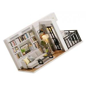 DIY Wooden Miniature Dollhouse Kit With Furniture and LED House