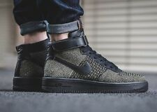 Nike Air Force 1 AF1 Flyknit Mid Black Palm Green UK Size 8 817420 301