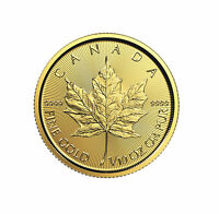 2018 $5 1/10oz Gold Canadian Maple Leaf .9999 BU