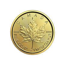 2018 $5 1/10oz Gold Canadian Maple Leaf .9999 BU