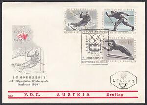 Austria FDC 1963 – Michel 1136/38 Yvert 974/76 Scott 711/13 First Day Cover