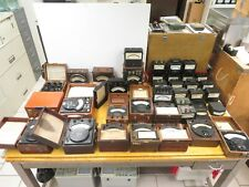 Lot of Mixed Vintage Electrical Meters Acdc Weston General Electric Westinghouse