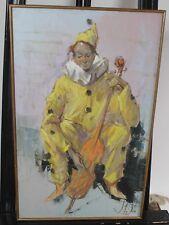 "Vladan Stiha Original Painting Portrait Clown 20"" x 24"" Framed"