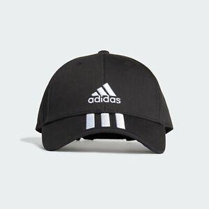 Adidas Basecap Baseball 3-Streifen Kappe Mütze Cap schwarz Baumwolle