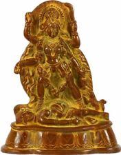 "Rare Kali Maa Mother Of God Hindu Jai Statue 7"" Vintage Brass Figure India 1.7KG"