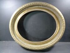 More details for oval picture frame wood gold finish large & heavy over 3kg made by arqadia
