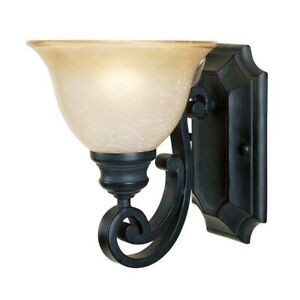 NEW Barcelona 9-Inch Wall Sconce by Designers Fountain - Natural Iron - 96101-NI