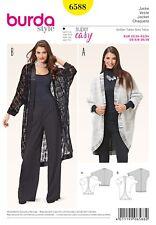 Burda Style Schnittmuster - Jacke mit Kimono-Ärmel , Egg-Shape - Nr.6588
