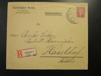 Germany 1920a Registered Commercial Cover / Leipzig Messestad CDS - Z6537