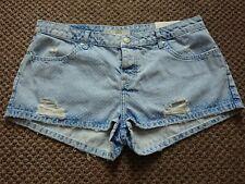 Bnwt Topshop Daisy Denim Shorts hotpants Size 14