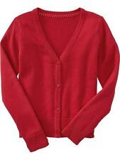 Old Navy Girls Toddlers / Kids Cotton Knit Sweater / Cardigan Red, XS (5 y/o)