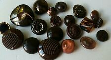 Vintage large lot of assorted glass buttons some lovely designs