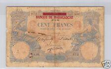 MADAGASCAR 100 FRANCHI 27.12.1892 (1926) PICK 34 RARO