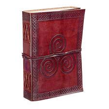 Fair Trade Fatto A Mano Celtico Triscele in pelle Journal 2nd Qualità
