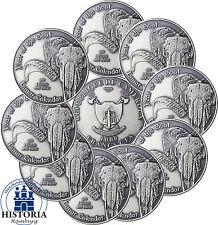 10 x Kamerun 1000 Francs CFA Silber 2015 Silbermünze Lunar Kalender Ziege
