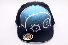 CUTE MONSTER CHARACTER SNAP BACK HAT CAP COTTON ADJUSTABLE BLACK/BLUE