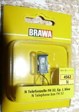 HS  Brawa  4562 Telefonzelle blau  FH 32beleuchtet Spur N