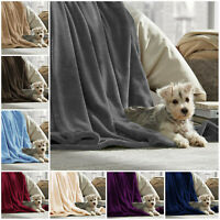 Flannel Fleece Bed Blanket Thick Warm Travel Throw Mink Sofa Bed Velvet Plush