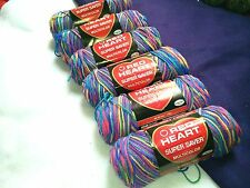 NEW RARE DISCONTINUED Red Heart Yarn 6 - 6 oz Skeins Same Dye Lot STARBRIGHTS