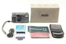 【MINT in Case】Contax T2 Titanum Black Point & Shoot Film Camera from JAPAN W914