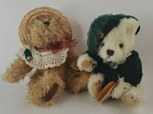 2 Plush Pickford Rosie  and Bianca Bear 1997 Brass Button Collectables With Tags