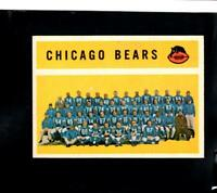 4704* 1960 Topps # 21 Bears Team (unmarked) Ex-Mt
