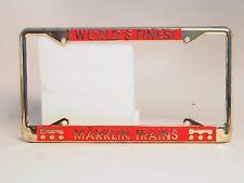 """Car license plate Frame holder USA MARKLIN """"Märklin Trains"""""""