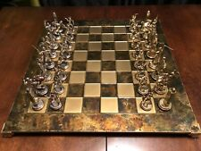 Manopoulos Greek Mythology Chess Set Gold & Silver Plated