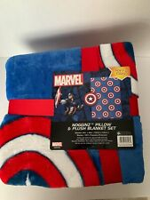 Marvel Avenger Captain America Throw and Pillow Nogginz
