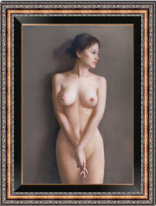 """Hand painted Original Oil Painting art nude girl on canvas 24""""X36"""""""