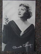 VINTAGE 30s CLAUDETTE COLBERT POSTCARD glamour film star actress photogravature