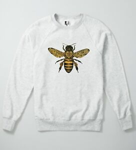 Bee Baroque Sweatshirt Moth Insect Tattoo Ink Hipster Jumper Indie Fly Wasp