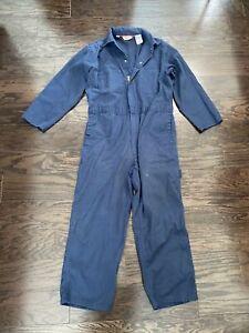 Vintage Walls Blue One Piece Work Farm Suit Hipster Coveralls Mens Large Short
