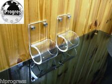 2 Pcs Clear Acrylic Brackets Holders Supports for Window Curtain Rod up to 2 in