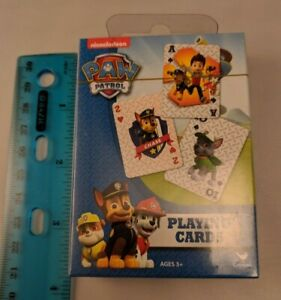 "Nickelodeon Paw Patrol Standard Size Playing Cards 3.5""x2.5"" Sealed Pack"