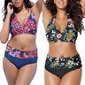 Übergröße Damen Push Up Bikini Set Gepolstert Bademode Badeanzug Strandkleidung