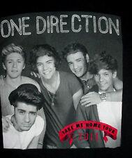 2013-One Direction-Take Me Home Tour-Band Concert Club Black Shirt-M