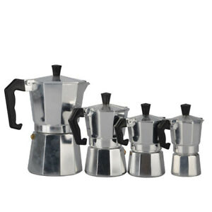 Aluminum Coffee Pot Coffee Maker Espresso Percolator Stovetop Mocha Pot(1-9cu JG