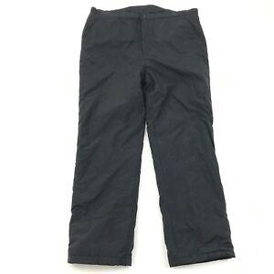 HELLY HANSON Snow Pants Men's Size 2XL XXL 44x34 Black Midweight Zip Fly $170