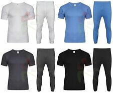 da4dd14e6b89a Mens Winter Thermal Long Johns Short Sleeve T-Shirt Underwear Base Layer SKI  TOP