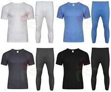 Mens Winter Thermal Long Johns Short Sleeve T-Shirt Underwear Base Layer SKI TOP