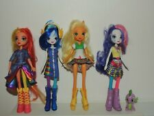 My Little Pony Equestria Girls figure Lot of 4 Applejack Fluttershy & more!