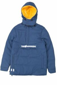 THE HUNDREDS DAILY PUFFER ANORAK JACKET BLUE