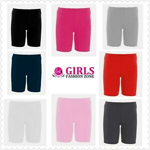 Girls School Casual Over Knee Length Plain Stretchy Comfortable Cycling Shorts