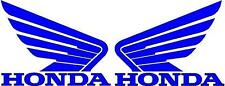 HONDA WINGS 2x 115mm Motorcycle Bike Tank Fairing Decals / Sticker ( BLUE )