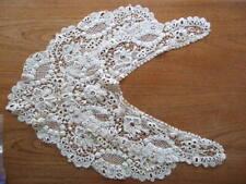 Antique Irish raised crochet lace collar