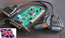 PCI RS422 RS485 2 Porta Seriale Scheda a basso profilo