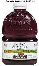 Indian Summer Tart Cherry Juice 46 oz bottles trial bottle