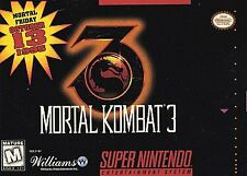 Mortal Kombat 3 (Super Nintendo Entertainment System, 1995) Game Only