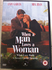 Andy Garcia Meg Ryan WHEN A MAN LOVES A WOMAN ~ 1994 Alcoholism Drama UK DVD